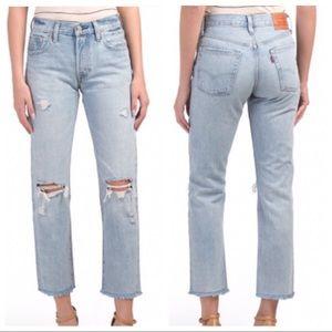 Levi's 501 S High Rise Distressed Crop Jean